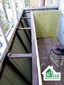 Балконы с выносом - цена на остекление с расширением площади
