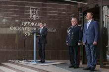 Торжественное поздравление с Днем Независимости Украины председателя Государственной фискальной службы Игоря Билоуса