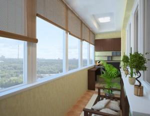 Балкон с выносом подоконника