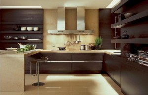 Барокко, хай-тек, кантри в интерьере кухни